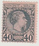Monaco N° 7 ** Prince Charles III 40c Bleu Sur Rose - Neufs