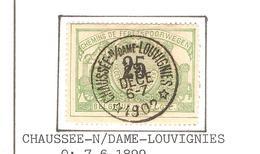 REF134/ CF18 C.Relais-Etoile Chaussée-N/Dame-Louvignies 29/DECE/6-7/1902 Oblitération Concours - Cachets à étoiles