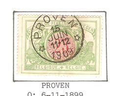 REF135/ CF 31 C.Relais-Etoile Proven 15/Juin/11-12/1909 Belle Frappe - Cachets à étoiles