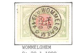 REF136/ CF 31 C.Relais-Etoile Wommelghem 14-15/13Octo/1911 Aminçi-dun - Cachets à étoiles
