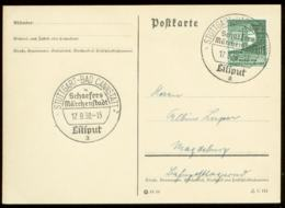 P0758 - DR Postkarte : Gebraucht Mit Sonderstempel Märchenstadt Liliput Stuttgart 1938 - Deutschland