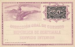 GUATEMALA -  SERVICIO INTERIOR - UNION POSTAL UNIVERSAL - Eisenbahn - Guatemala