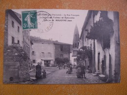 Cpa Saint Cirgues Haute Loire 43 La Rue Principale Le Débit De Tabac Et épicerie Tenu Par M Roueyre Jean  Commerce - France