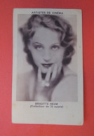 Chromo Photo. Réglisse  ZAN. Collection De 72 Artistes De Cinéma.   Brigitte  HELM - Confiserie & Biscuits