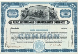 Titre De Bourse Made In USA - GULF, MOBILE AND OHIO RAILROAD COMPANY - 100 SHARES - 1959. - Railway & Tramway
