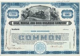 Titre De Bourse Made In USA - GULF, MOBILE AND OHIO RAILROAD COMPANY - 100 SHARES - 1959. - Chemin De Fer & Tramway