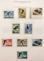 San Marino 1955 7° Giochi Olimpici  Sassone S.85 Nuovi ** Livi Imperfezioni COD FRA.1250 - Unused Stamps