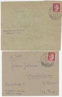 Schirmeck (Els.) 29.7.42 Illustré + Sicherungslager Vorbruck B./schirmeck I.Elsass Pour Colmar-Kolmar Les Deux Env. - Postmark Collection (Covers)