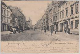 Brandenburg - Brandenburg A.d. Havel, Steinstraße, Sw-AK Gelaufen 1903 - Germania