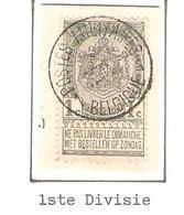 REF139/ TP 53 S/Fragment C.Postes Militaires 1 Belgique 4-SEPT?-10-11 - 1893-1907 Armoiries