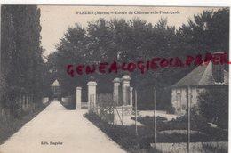 51 - PLEURS - ENTREE DU CHATEAU ET LE PONT LEVIS - EDITEUR HUGULER 1917   MARNE - Andere Gemeenten