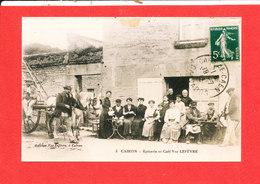 14 CAIRON Photo D ' Une Cpa Epicerie Et Café Vve LEFEVRE  * Format 14 Cm X 9 Cm - France
