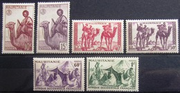 MAURITANIE                     N° 125/130                     NEUF** - Unused Stamps