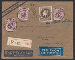Grand Montenez - N°289 + 284 X3 Sur Lettre En R Par Avion Gent / Gand (1934) Vers Pointe Noire (Congo Français). TB - 1929-1941 Big Montenez