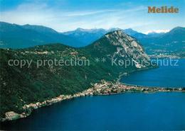 13362050 Melide Lago Di Lugano Carona Monte San Salvatore Veduta Aerea Melide - TI Tessin