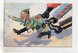 CPA - MILITARIA - Illustrateur Dufresne - La Triple Détente - GUERRE 1914 - 1918 - Poilus - Voir Description - Guerre 1914-18