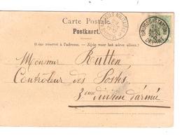 REF144/ TP 53 S/CP Souvenir Bruges C.Bruges(Station) 28/8/1908 > 3° DIV Armée C D'arrivée Postes Militaires 3 Belgique - Marcophilie