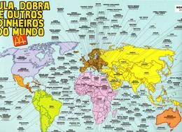 Mcdonald's -  BRASIL  - Planisphère En Papier Avec Les Mcdonald's Dans Le Monde Entier - Nom Des Pays Et Leurs Monnaies - McDonald's