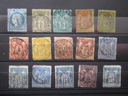Petit Lot De Type Sage - 1876-1898 Sage (Type II)