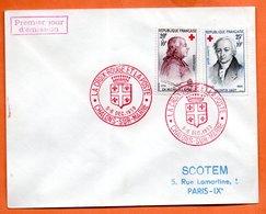 MAURY N° 1226 + 1227  CROIX ROUGE ( Cachet Concordant ) 1959 CHALON SUR MARNE Lettre Entière N° LM 67 - 1921-1960: Modern Tijdperk