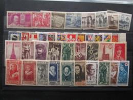 Petit Lot De Timbre De 1935 à 1945 Avec Traces De Charnieres - France