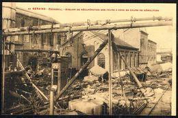 14-18 - BE - SERAING: Usines COCKERILL, Démantelées Par Les Allemand (5).Atelier Dé Récupération Des Fours à Coke. - Guerre 1914-18