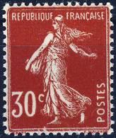 360 IIA  Semeuse Camée 30C Rouge Foncé  N* Avec Trace Charnière - 1906-38 Semeuse Camée