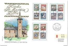 """GG - Enveloppe Recommandée Avec Timbres Pro Patria """"Vitraux De Zillis"""" Oblit Illustrée De Zillis 1979 - Pro Patria"""