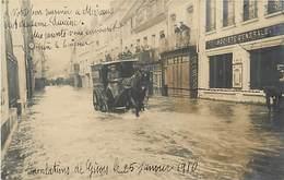 27 CARTE PHOTO DE GISORS - INNONDATIONS LE 25 JANVIER 1910 - Gisors
