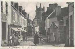 QUIMPERLE : La Rue Des Ecoles - Quimperlé