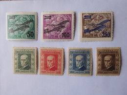 2 Séries Timbres Neufs Tchécoslovaquie 1923 & Aviation / 7 Timbres - Tchécoslovaquie