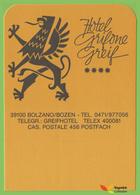 Voyo HOTEL GRIFONE Bolzano Italy Hotel Label  Sticker 1980s Vintage - Hotel Labels