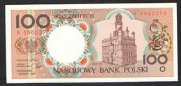 POLAND  100 ZL  1990 UNC - Pologne