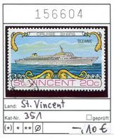 St. Vincent - Michel 351 - Oo Oblit. Used Gebruikt - Schiffe Ships Bateaux - St.Vincent (1979-...)