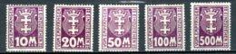 DE   Danzig Portomarken / Taxe   ---    Y&T    15 - 19     X     Mi        ---   Faibles Charnières  -  TTB - Danzig