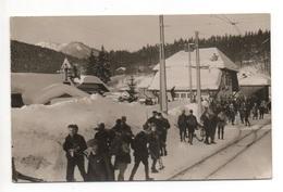 ST. CERGUE La Gare Skifahrer Phot. J. Luscher Nyon - VD Vaud