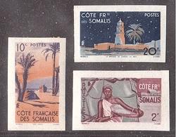 Variétés COLONIES COTE SOMALIS 3 Val. 1947 * INCONNUS En ND ! - Côte Française Des Somalis (1894-1967)