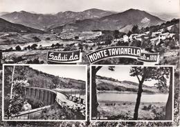 SALUTI DA MONTE TAVIANELLA - CASTIGLIONE DEI PEPOLI - BOLOGNA - 3 VEDUTE - LAGO E DIGA DI GIULIANA - PANORAMA - 1967 - Bologna