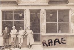PHOTO ANCIENNE,76,SEINE MARITIME,LILLEBONNE,COMMERCE,BOUCHERIE,RUE CESARINE,RARE - Orte