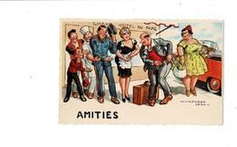 Vends Lot De Quatre Cartes Humoristiques, Zaseph ,Amitiés ,Plaisir De La Plage, A Propos Ma Chère, - Humour