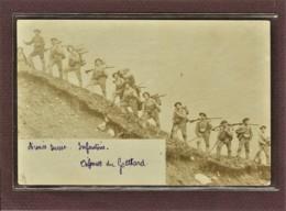 SUISSE - ARMEE SUISSE - CARTE PHOTO - DEFENSES DU GOTTHARD - MILITAIRES EN ASCENSION - 1900 - Suisse