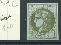 TIMBRE FRANCE - N° 39C. TB.  Neuf. Cote 200€. Signé. - 1870 Bordeaux Printing