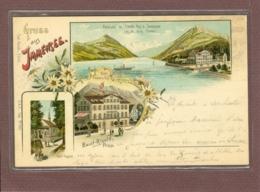 SUISSE - GRUSS AUS IMMENSEE - HOTEL DU RIGI - 1899 - 2 SCANS - Non Classés