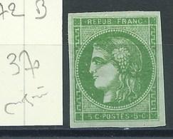 TIMBRE FRANCE - N° 42B. TB.  Neuf. Cote 370€. Signé. - 1870 Bordeaux Printing