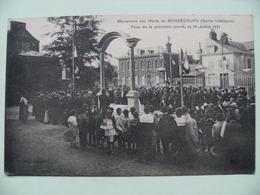 CPA 76 Bonsecours Région Rouen - Inauguration Monument Aux Morts 14/18 - Vue De L'Assemblée Le 14 Juillet 1921  A Voir ! - Bonsecours