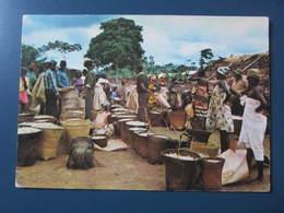 Carte Postale Afrique Gabon Le Marché Aux Arachides - Gabun