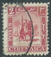 1950 CIRENAICA AMMINISTRAZIONE AUTONOMA USATO CAVALIERE SENUSSITA 2 M - RB44-3 - Cirenaica
