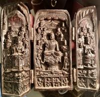 Temple Temple Of The Tibetan Buddhism Of The Sanctuary Temple Of Shakyamuni Amitabha Buddha, Bodhisattva Avalokiteśvara - Oestliche Kunst