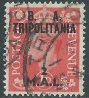 1950 OCCUPAZIONE BRITANNICA TRIPOLITANIA BA USATO 2 MAL - RB39-8 - Tripolitania