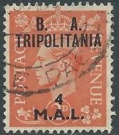 1950 OCCUPAZIONE BRITANNICA TRIPOLITANIA BA USATO 4 MAL - RB39-3 - Tripolitania